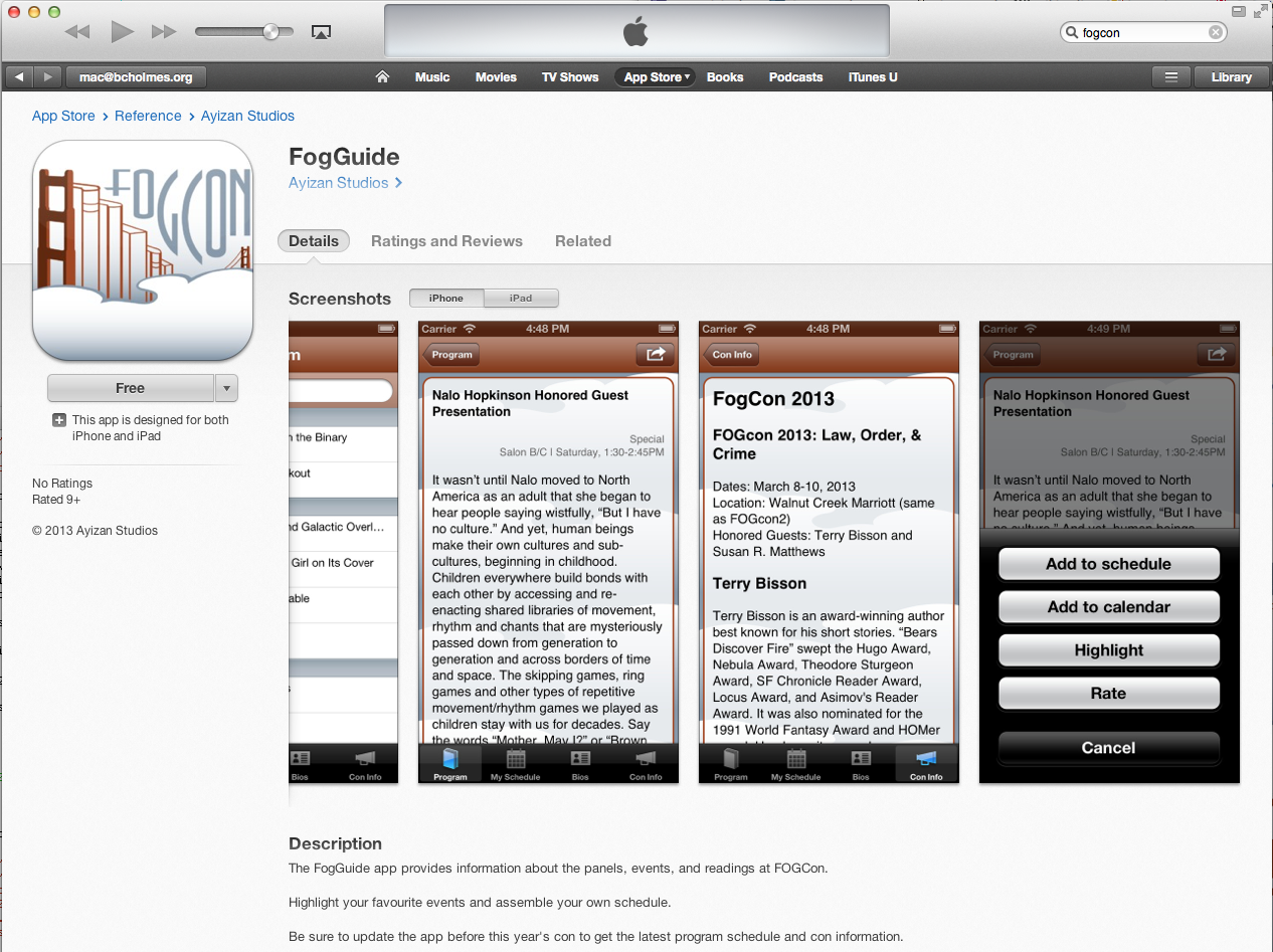 FogGuide in App Store